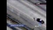 Колоездач бяга от полицията по магистрала Няма такова П Р О