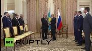 Russia: Putin honours Kazakh President Nazarbayev with Order of Alexander Nevsky