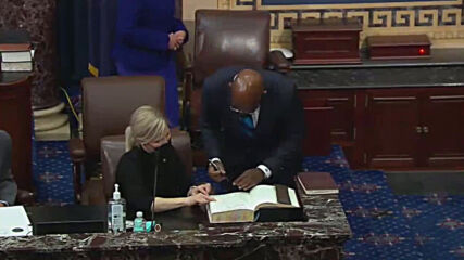 USA: VP Harris swears in 3 senators as Senate control flips to Democrats