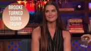 Brooke Shields gags when recalling Trump asking her out