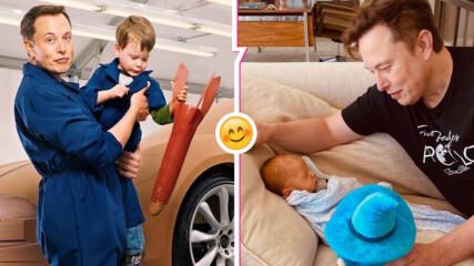 """Илон Мъск показа първо видео с бебето си, """"водят"""" разговор"""