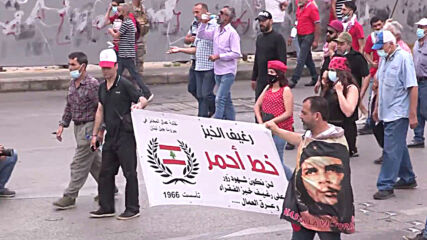 Lebanon: Hundreds join postponed International Workers' Day march in Beirut