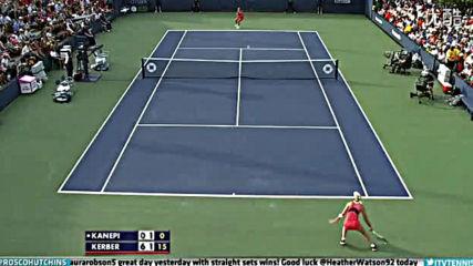 Angelique Kerber vs Kaia Kanepi 2013 Us Open 3r Highlights