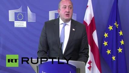 Belgium: Georgia shows integration process with Europe is beneficial - Margvelashvili