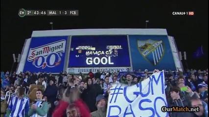 Велика Барселона с/у Малага 3-1 (всички голове)