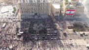 Lebanon: Drone footage reveals thousands of anti-govt. protesters in Beirut