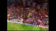 Ливърпул - Барселона - Феновете на Ливърпул пеят You Will Never Walk Alone
