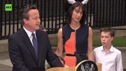 Cameron Gives Parting Speech Outside 10 Downing Street