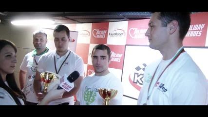 Интервю с Отборите на Фирма NIK и SBTech - Победители в Благотворителния Турнир по Картинг