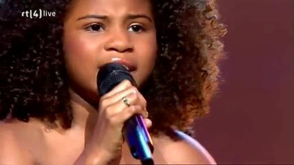11годишно разби всички Hd 11-year-old dutch Aliyah sings Jennifer Hudson, Holland's Got Talent 2011