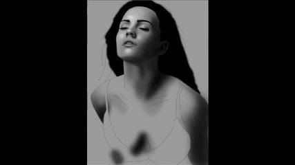 Megan Fox - Digital Painting on photoshop