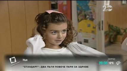 Момиченце отряза косата си заради болната си учителка