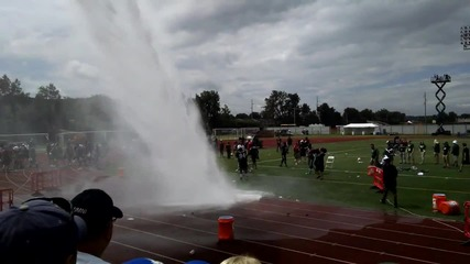 Ny Jets Als Ice Bucket Challenge with Fire Truck Hose