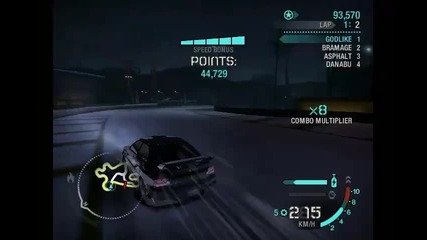 Need For Speed Carbon Drift 1,058,065 Points
