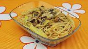 Спагети със зеленчуци и сусам