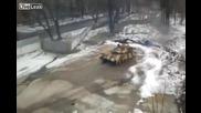 Дрифт с танк ... руски стил !!!