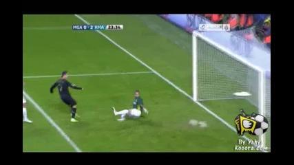 Malaga 0-2 Real Madrid ( Ronaldo )