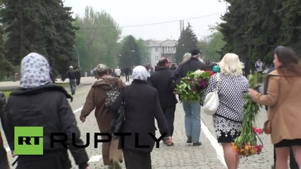 Ukraine: Odessa residents gather at Trade Unions House to commemorate massacre