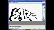 Youtube - Como hacer graffiti En Mspaint how to do Graffiti on paint
