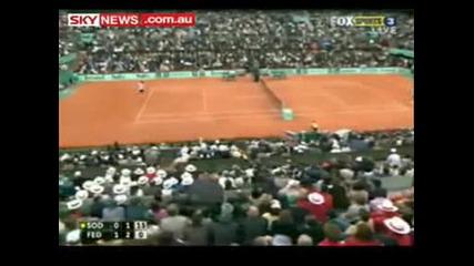Roger Federer Wins French Open 2009 vs Soderling