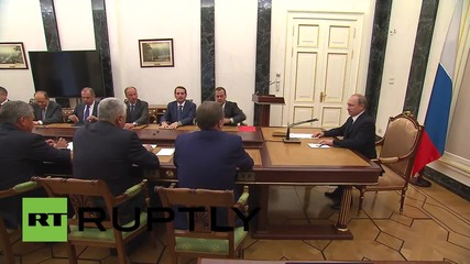 Russia: Putin heads security council meeting to discuss Iran deal