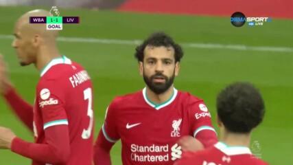 Салах изравни за Ливърпул с брилянтен гол
