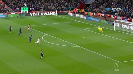Арсенал - Евертън 2:2 /първо полувреме/