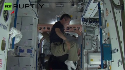 ISS Crew Show Off their Circus Skills in Zero Gravity