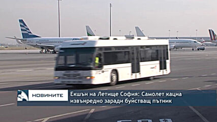 Екшън на Летище София: Самолет кацна извънредно заради буйстващ пътник