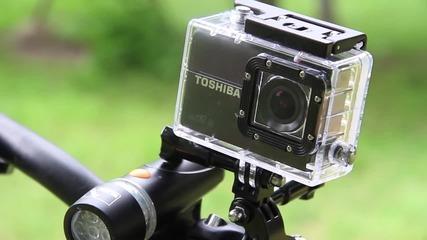 Адреналин , спорт и забавление с екшън камерата Toshiba Camileo X-Sports
