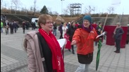 Germany: Anti-TTIP protesters rally outside SDP party congress