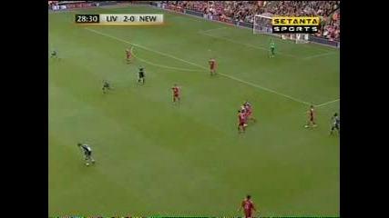 Ливърпул 3 : 0 Нюкасъл гол на Каут