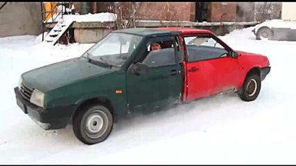 Двама водачи в един автомобил - поредната щуротия от Русия