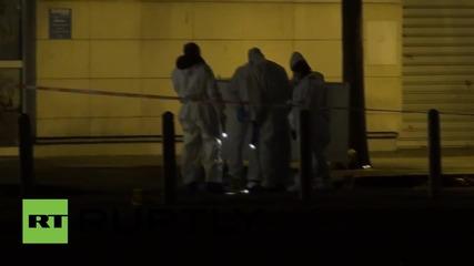 France: Forensic officers comb area outside Stade de France