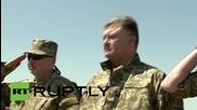 Ukraine: Poroshenko oversees Ukrainian Naval Infantry drills in Mykolaiv