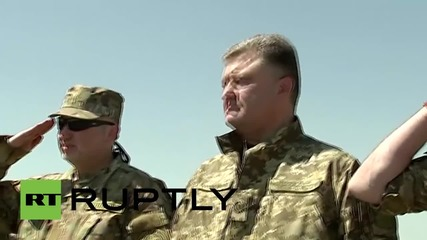 Ukraine: Poroshenko oversees Ukrainian Naval Infantry drills in Mykolaiv