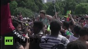 USA: New Yorkers cause a splash in epic Central Park water fight