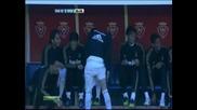 Взривоопасен удар на Роналдо от 35 метра скъса мрежата на Фернандес
