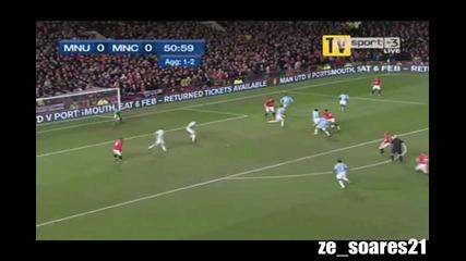 Манчестър Юнайтед - Манчестър Сити 3:1 всички голове