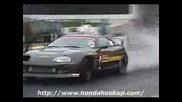 Toyota Supra Burnout Drag