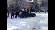 Bmw X5 на сняг !!!
