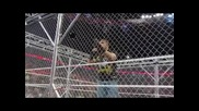 Wwe Raw 13.5.2013 Triple H Beating Up Brock Lesnar In The Cage