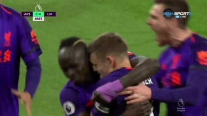 Милнър наказа Арсенал с юбилейния си гол №50
