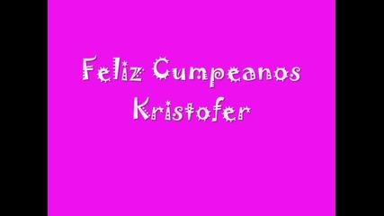 Feliz Cumpleanos Kristofer