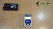 Малка джобна електронна везна до 500гр 0.1 за злато, бижута, дигитален кантар, риболов, багаж