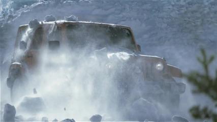 Jeep vs снежна лавина