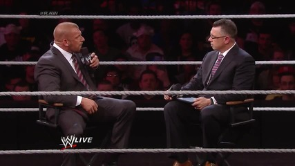 Triple H vows to end the Yes! Movement at Wrestlemania: Raw, March 24, 2014