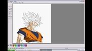 Как да нарисуваме Son Goku на Paint