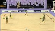 Българският ансамбъл по художествена гимнастика е световен шампион в многобоя!
