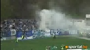 Ultras Levski aways at the lovech town vs Litex